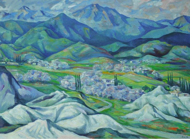 Открытие выставки Народного художника Туркменистана Аннадурды  С начала 2000 х годов творчество Алмамедова ознаменовано новым подъёмом он плодотворно работает Участвуя на государственных и международных выставках